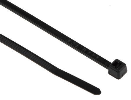 HellermannTyton , T18R Series Black Nylon Cable Tie, 100mm x 2.5 mm
