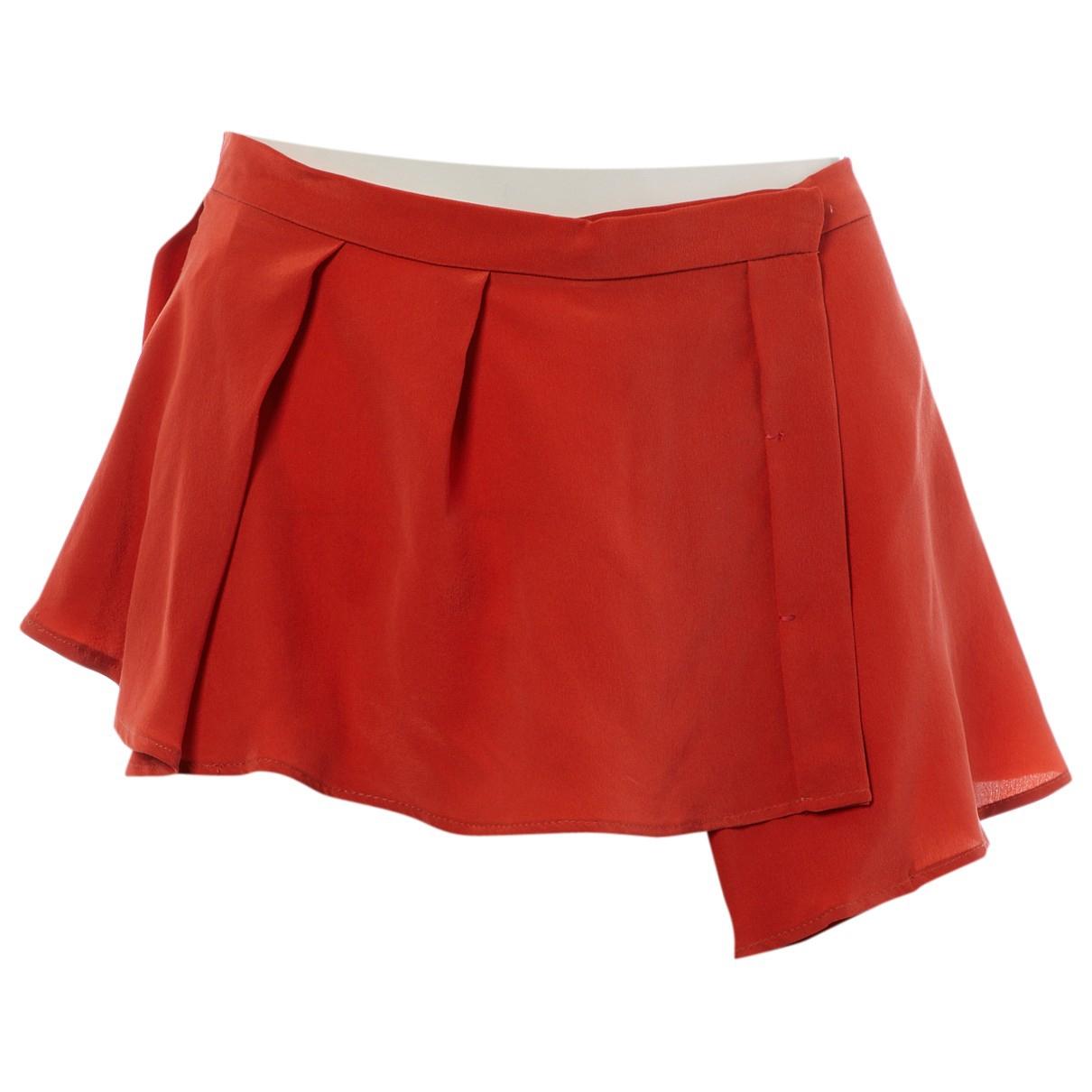 Sport Max - Jupe   pour femme en soie - orange