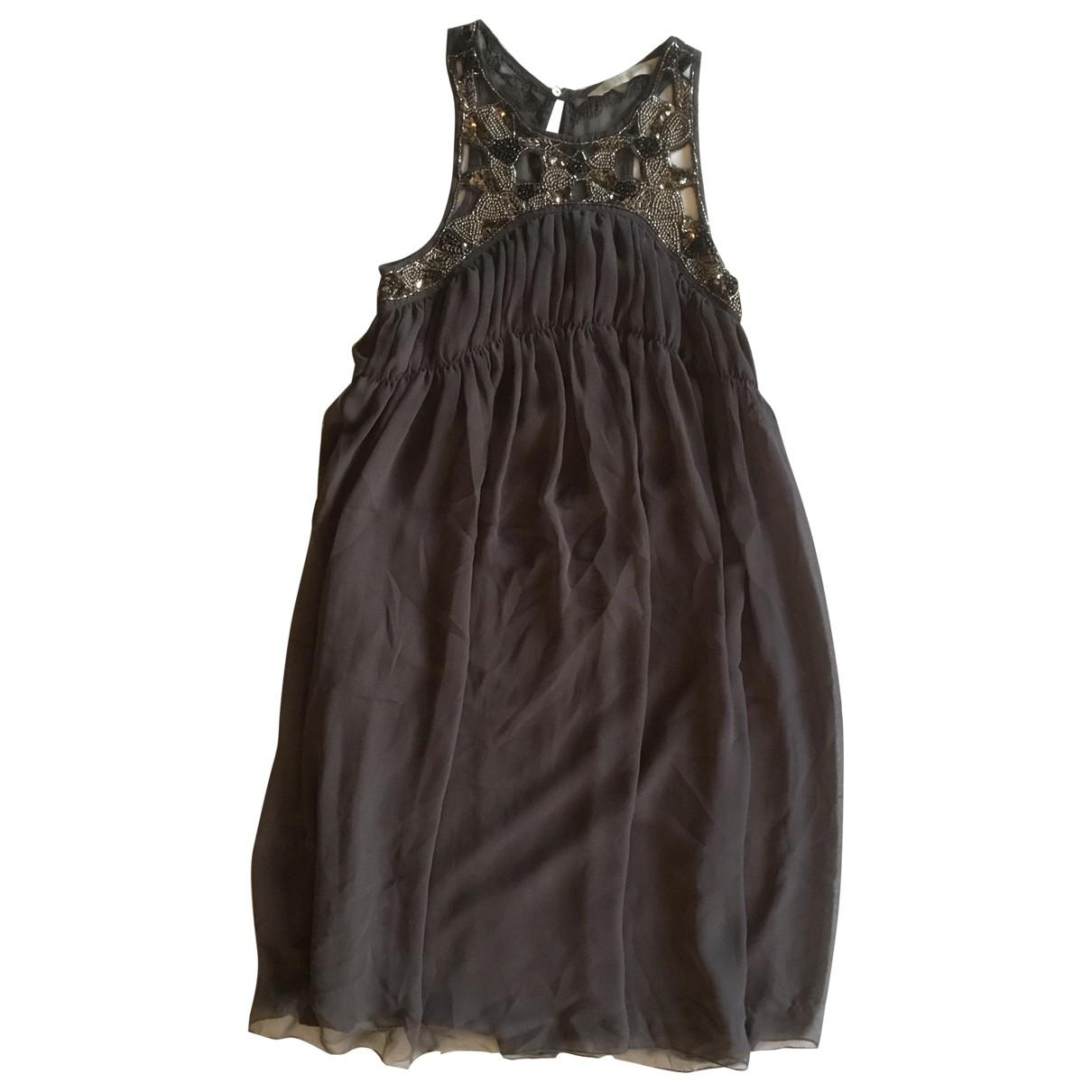 Zara \N Kleid in  Anthrazit Polyester