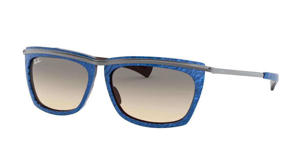 Ray-Ban RB2419 Olympian II 131032 Mens Sunglasses Blue Size 56