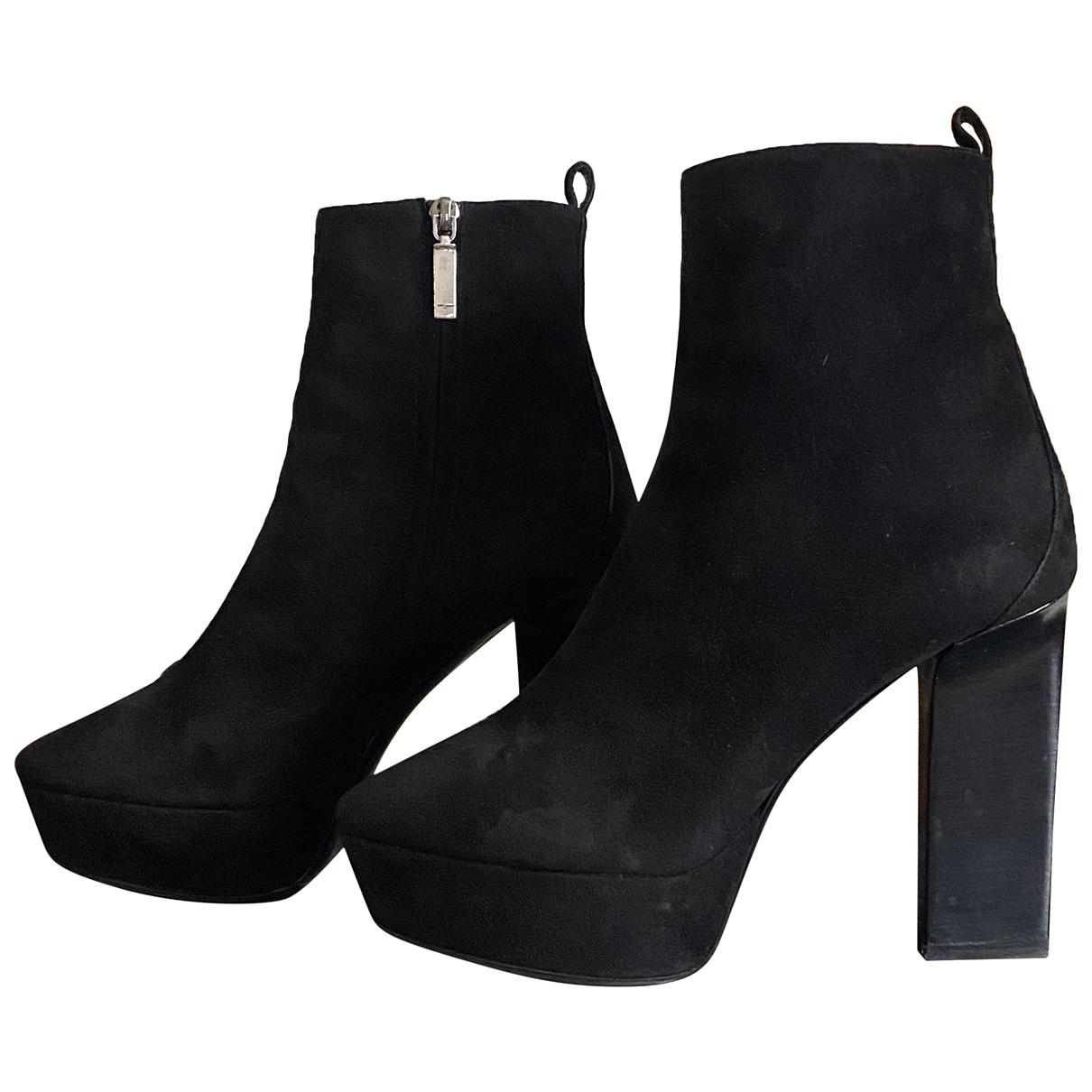 Saint Laurent N Black Suede Ankle boots for Women 39 EU