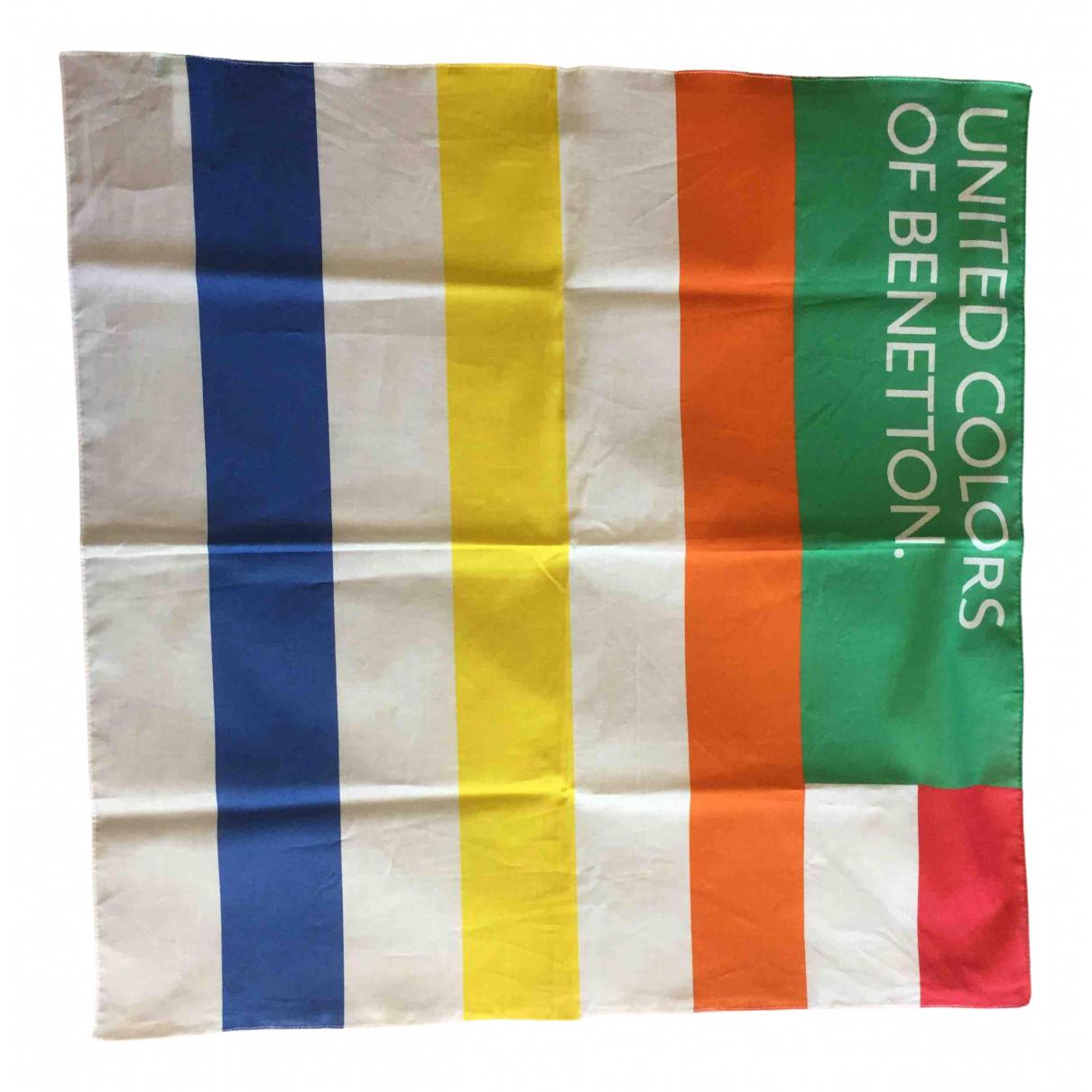 Benetton - Foulard   pour femme en coton - multicolore