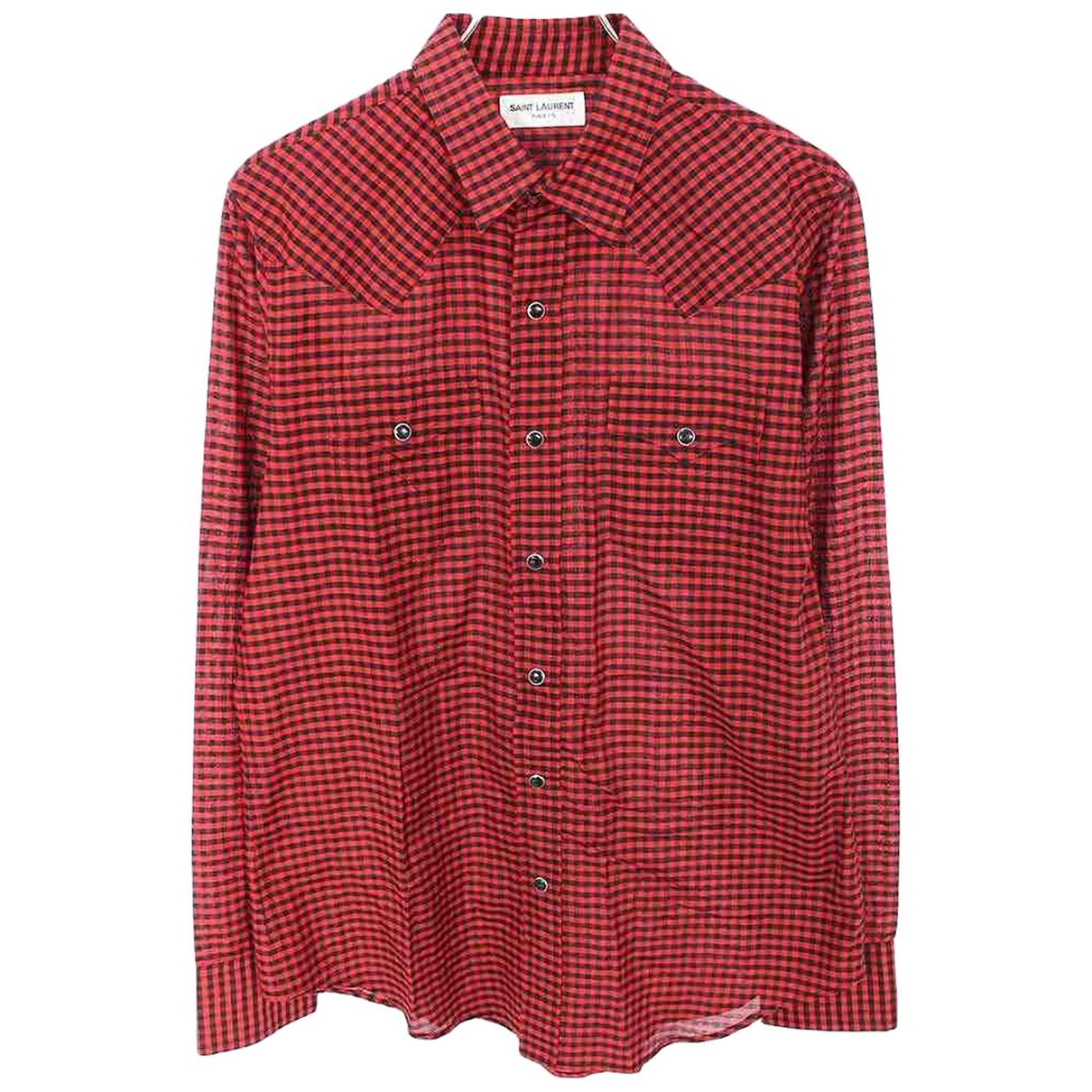 Saint Laurent - Chemises   pour homme en coton - rouge
