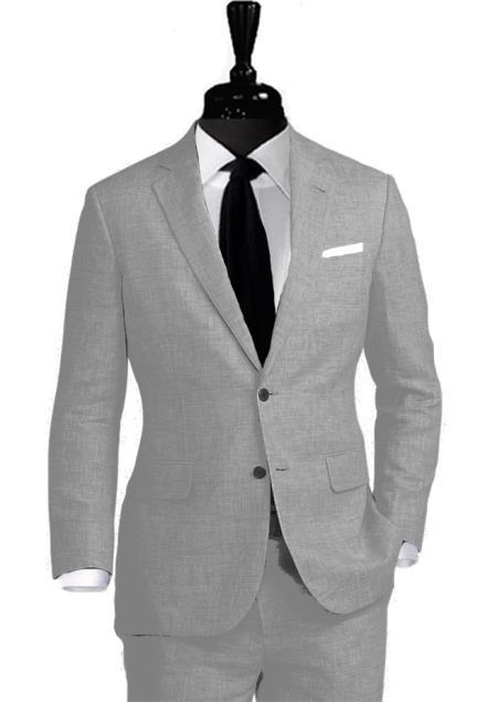 Alberto Nardoni Notch Lapel Coming September/1/2017 Linen Suit
