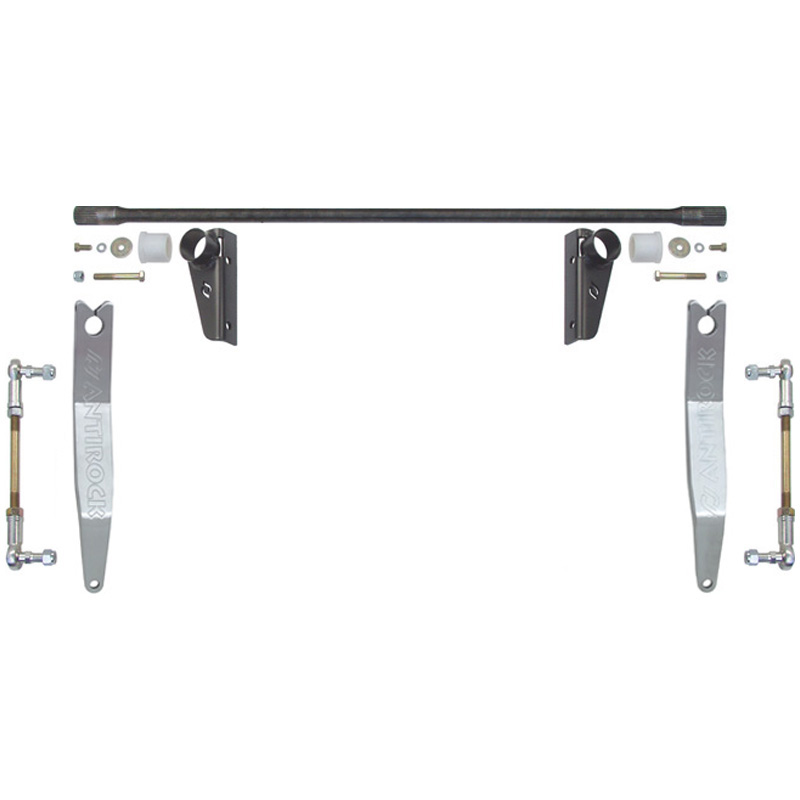 RockJock 4x4 CE-9900JKFSA JK Antirock Front Sway Bar Kit W/Steel Frame Bracket And Aluminum Arms