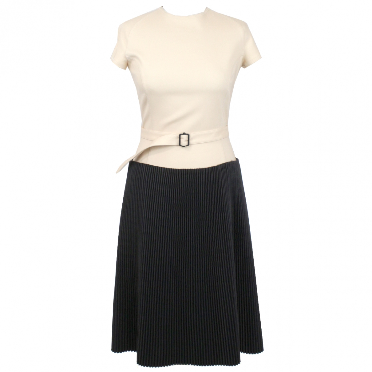 Bottega Veneta \N Kleid in  Ecru Polyester