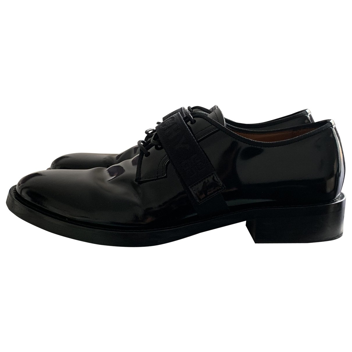 Givenchy \N Black Patent leather Lace ups for Men 42 EU