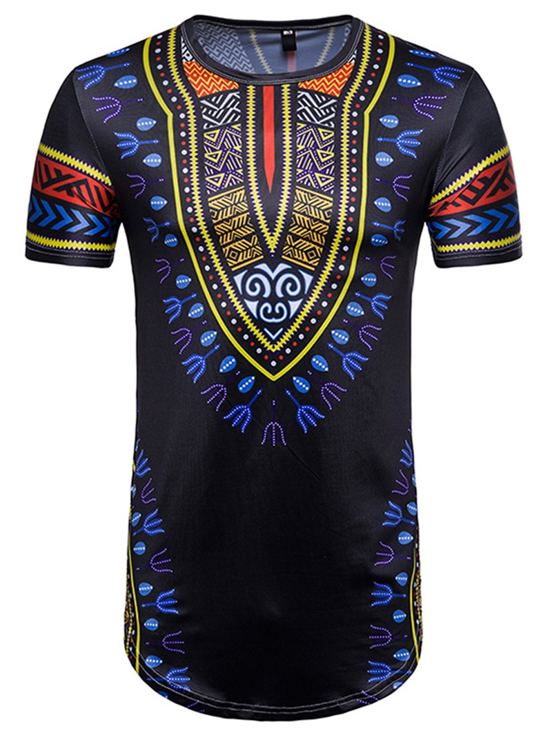 Ericdress African Fashion Dashiki Print Mens Slim Fit Shirt