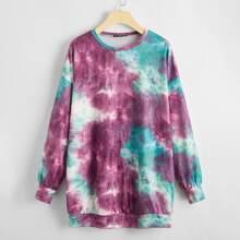 Tie Dye Drop Shoulder Oversized Sweatshirt