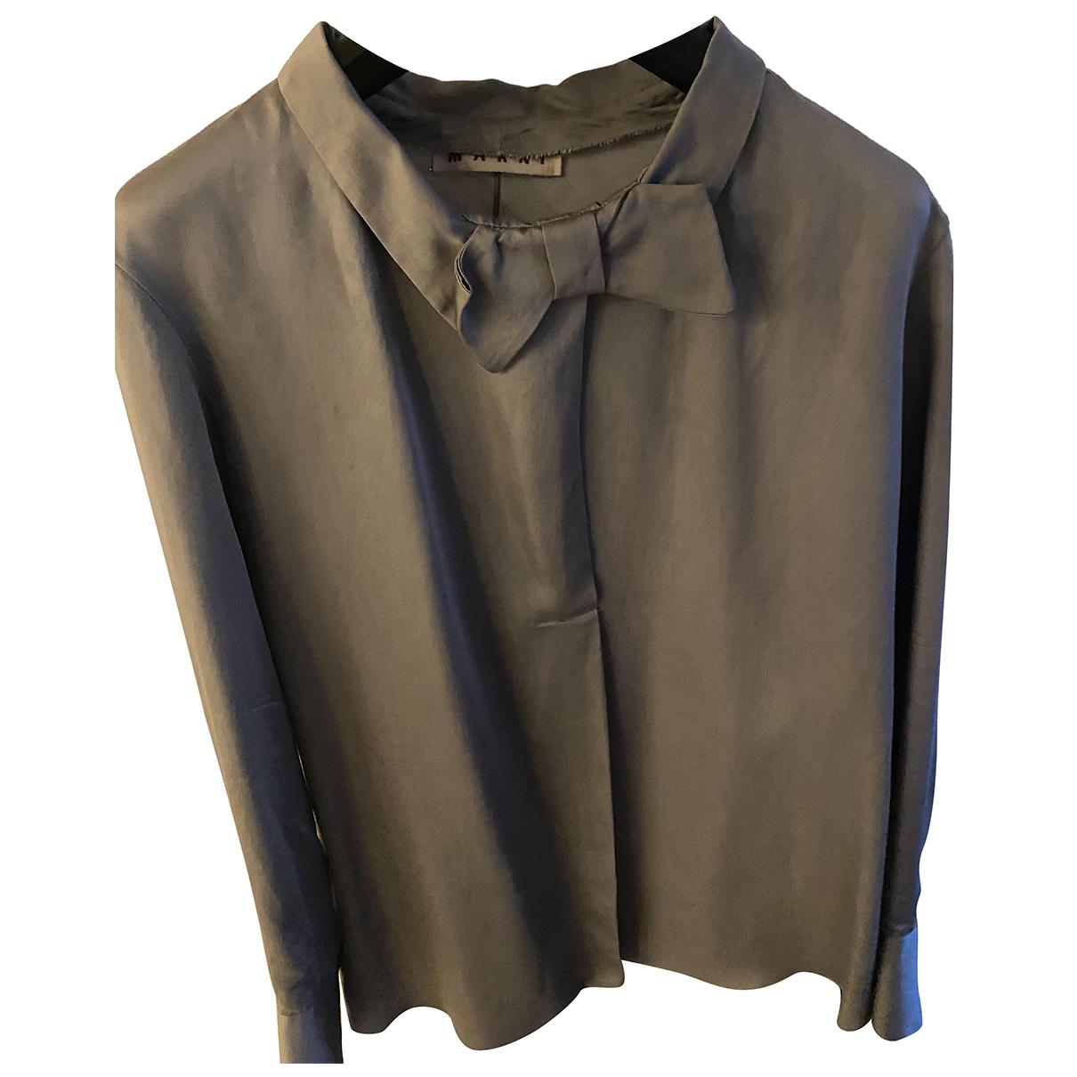 Marni N Grey Silk  top for Women 38 IT