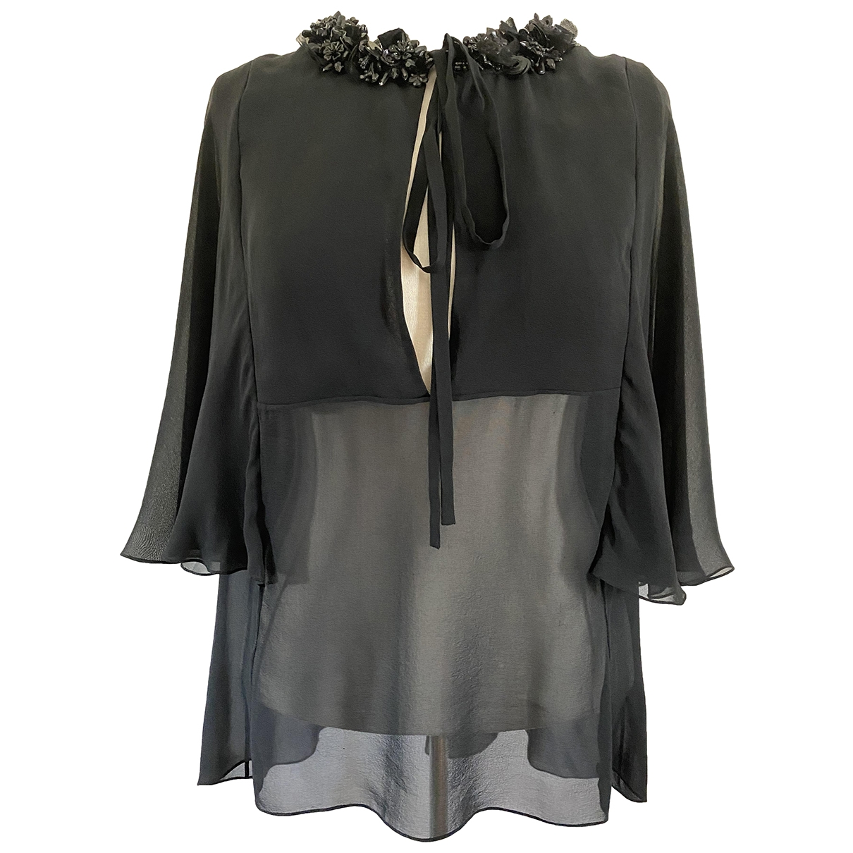 Elie Saab \N Black Silk  top for Women 38 FR