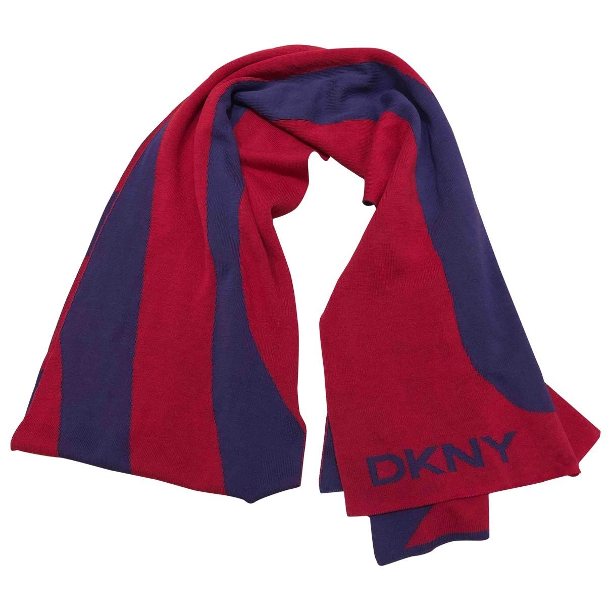 Dkny - Foulard   pour femme en coton - rouge