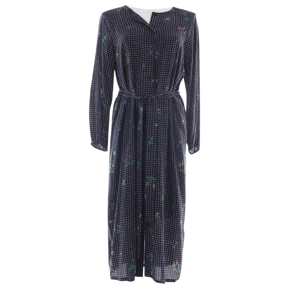 Essentiel Antwerp \N Kleid in  Blau Viskose