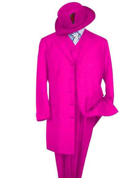 Mens Classic Long HotPink Fashion Zoot Suit(Wholesale Price available)