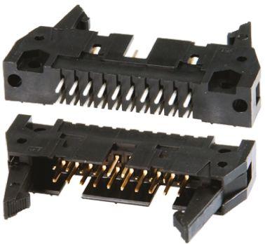 TE Connectivity , AMP-LATCH, 26 Way, 2 Row, Straight PCB Header