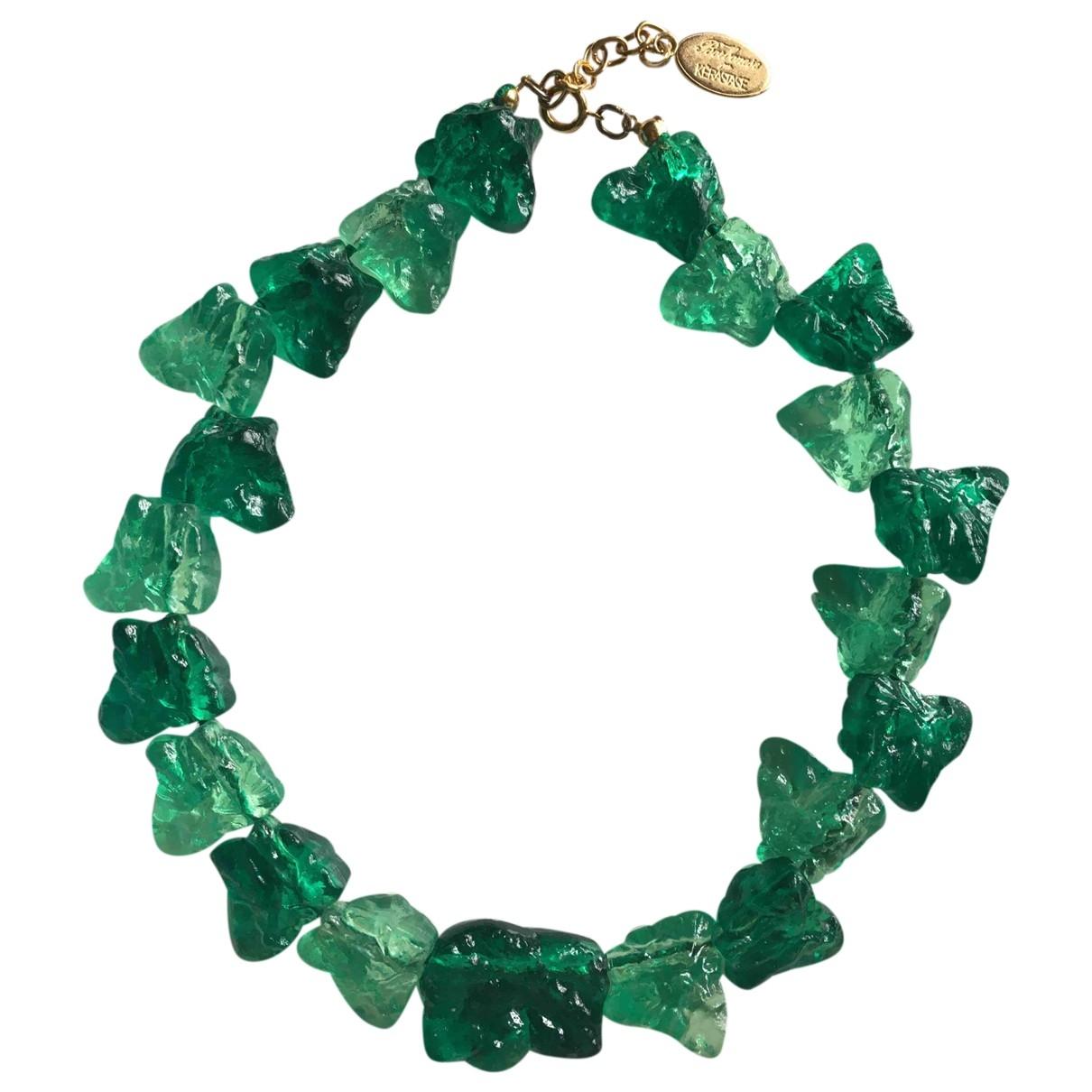 - Collier Motifs Ethniques pour femme - vert