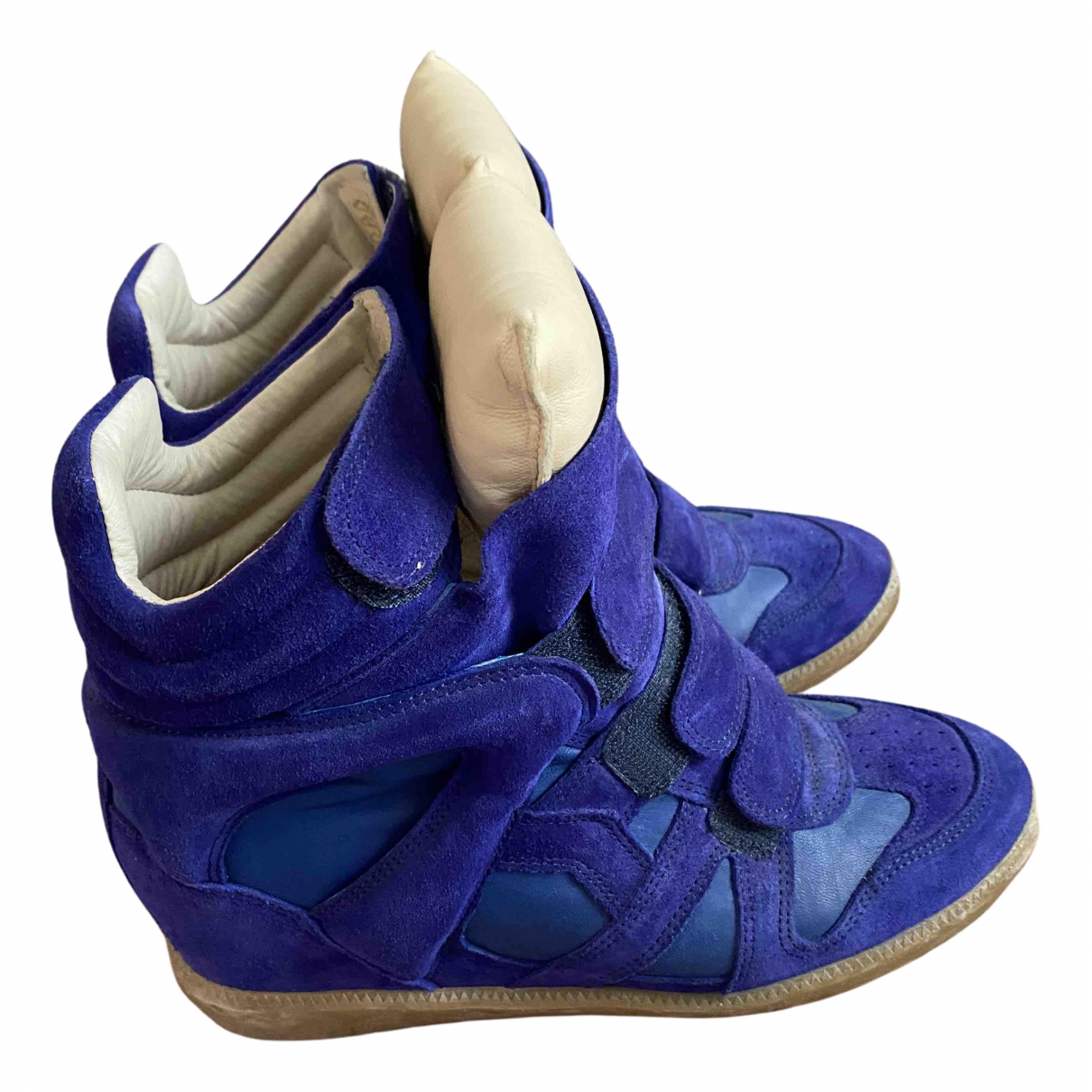 Isabel Marant Beckett Sneakers in  Blau Leder