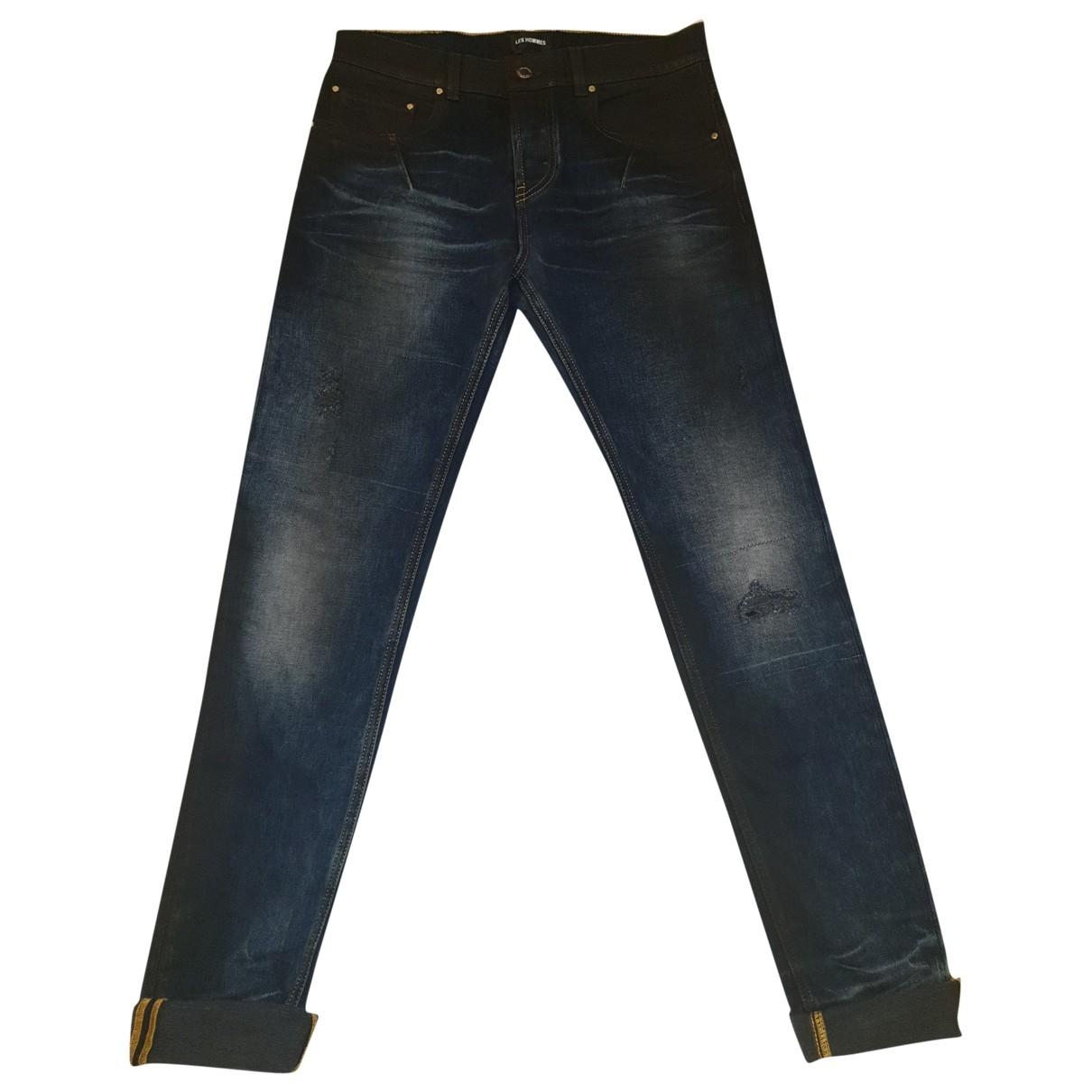 Les Hommes \N Jeans in  Blau Baumwolle - Elasthan