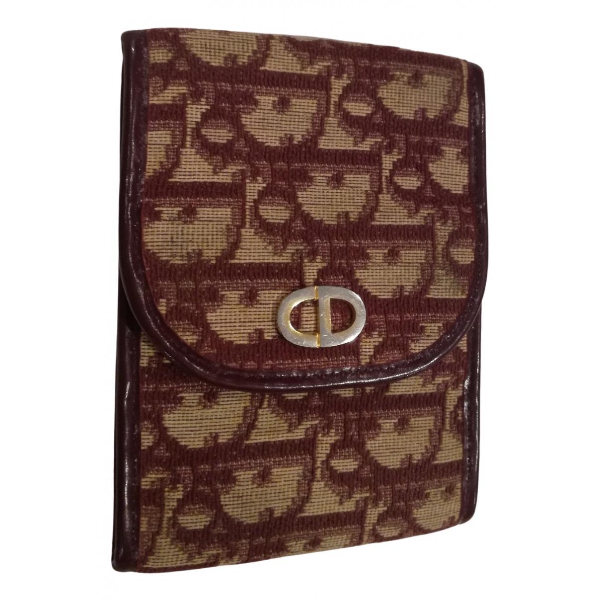 Dior - Petite maroquinerie   pour femme en coton - bordeaux