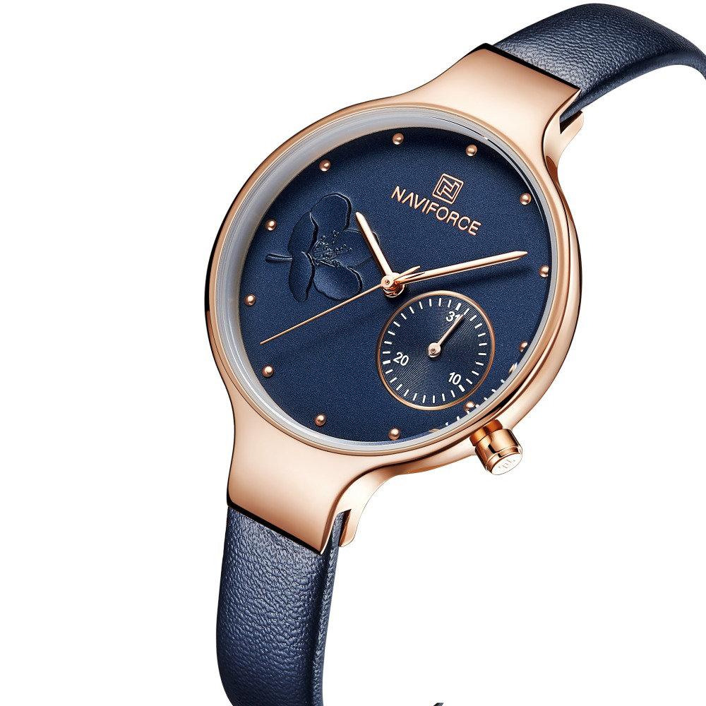 Waterproof Elegant Women Wrist Watch Genuine Leather Strap Quartz Watch
