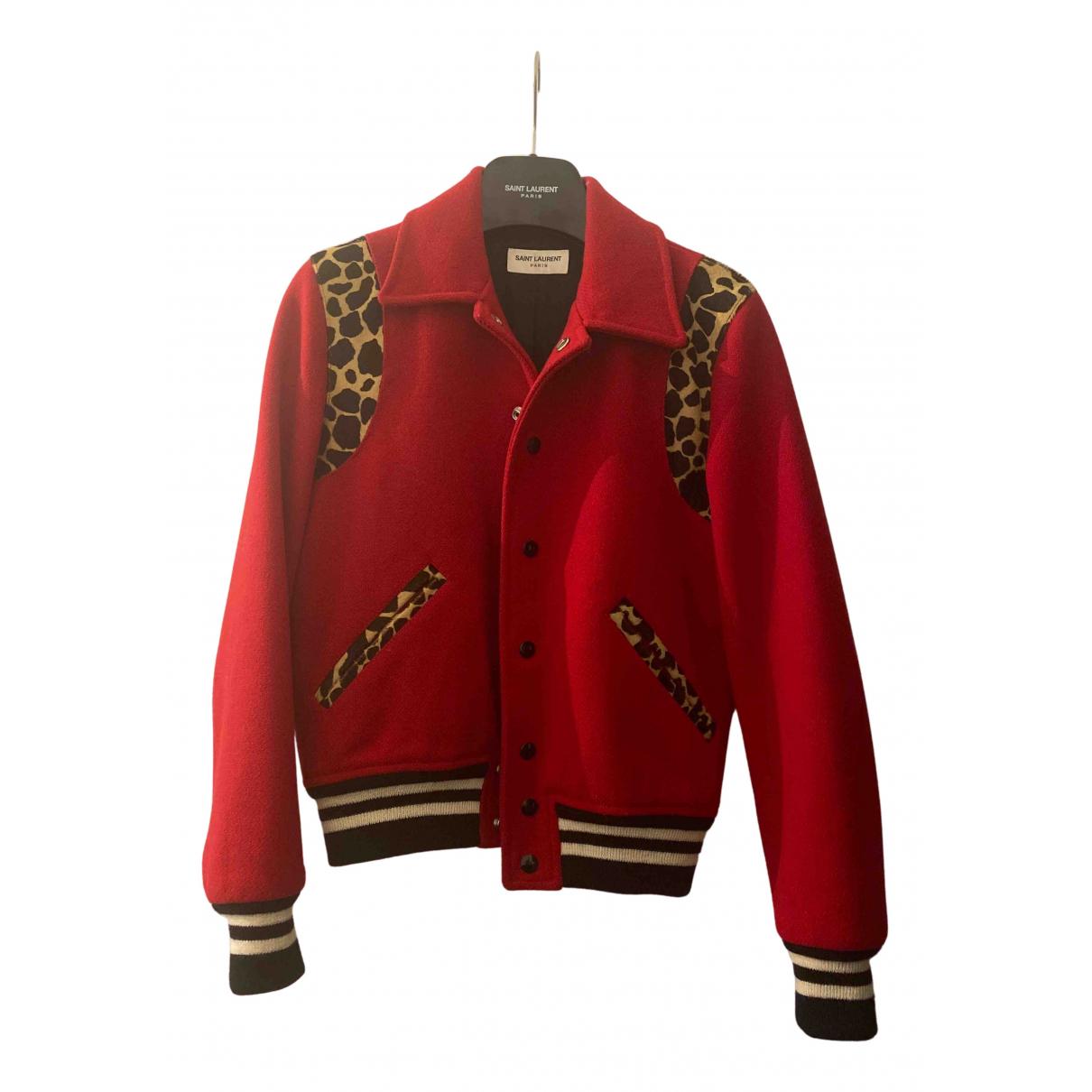 Saint Laurent - Veste   pour femme en laine - rouge