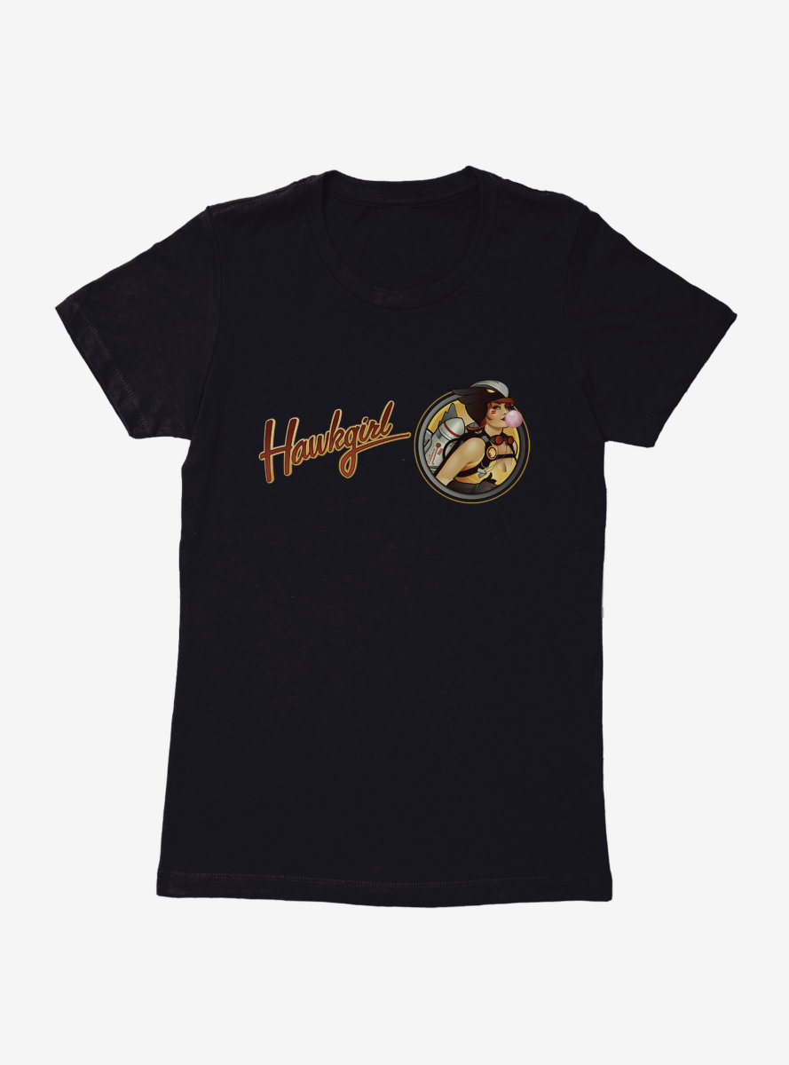 DC Comics Bombshells Hawkgirl Script Womens T-Shirt