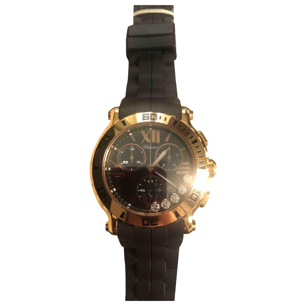 Chopard Happy Sport Brown Pink gold watch for Women \N