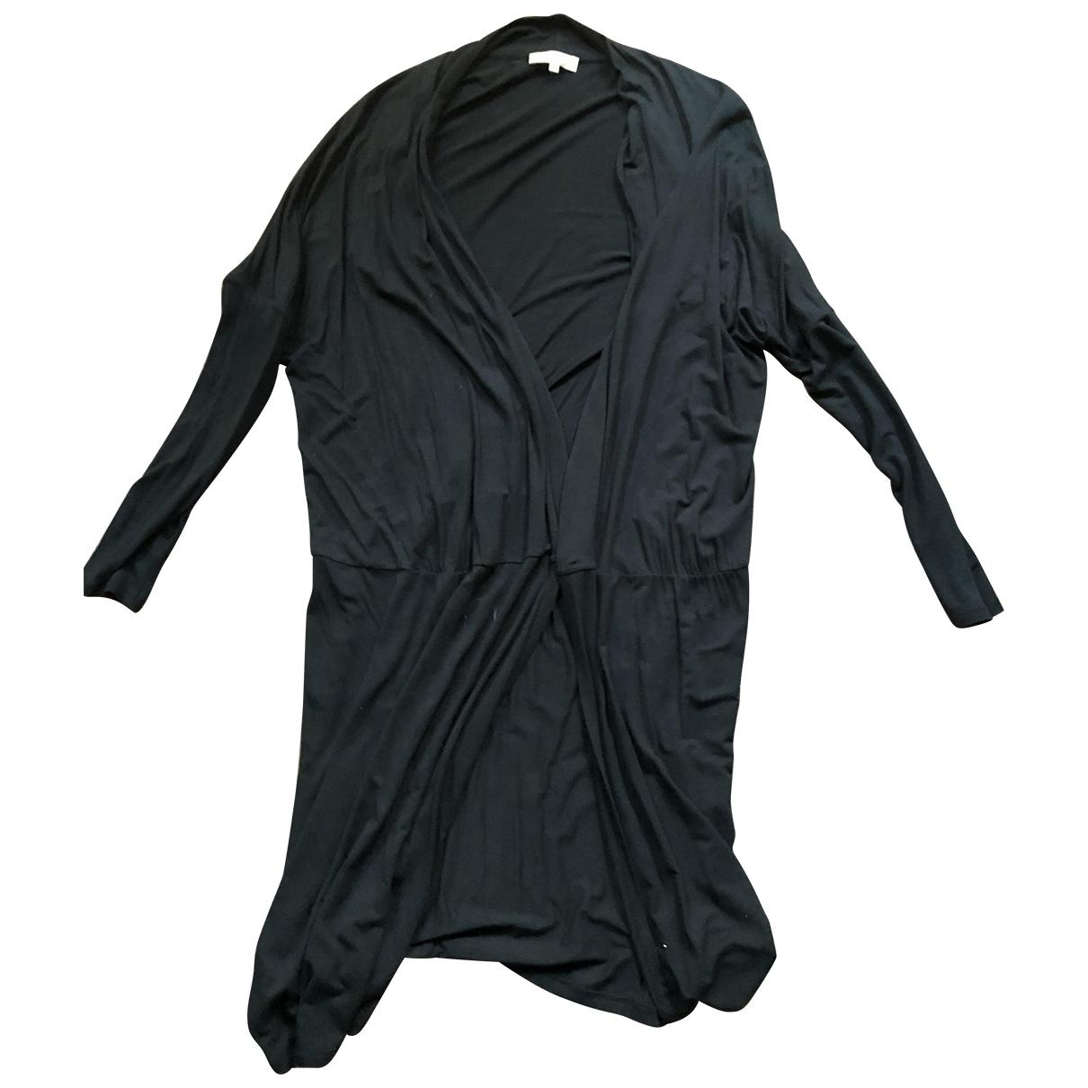 Essentiel Antwerp \N Kleid in  Schwarz Baumwolle
