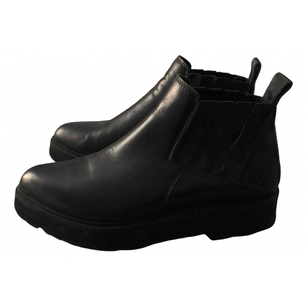 Ld Tuttle N Black Leather Ankle boots for Women 38 IT