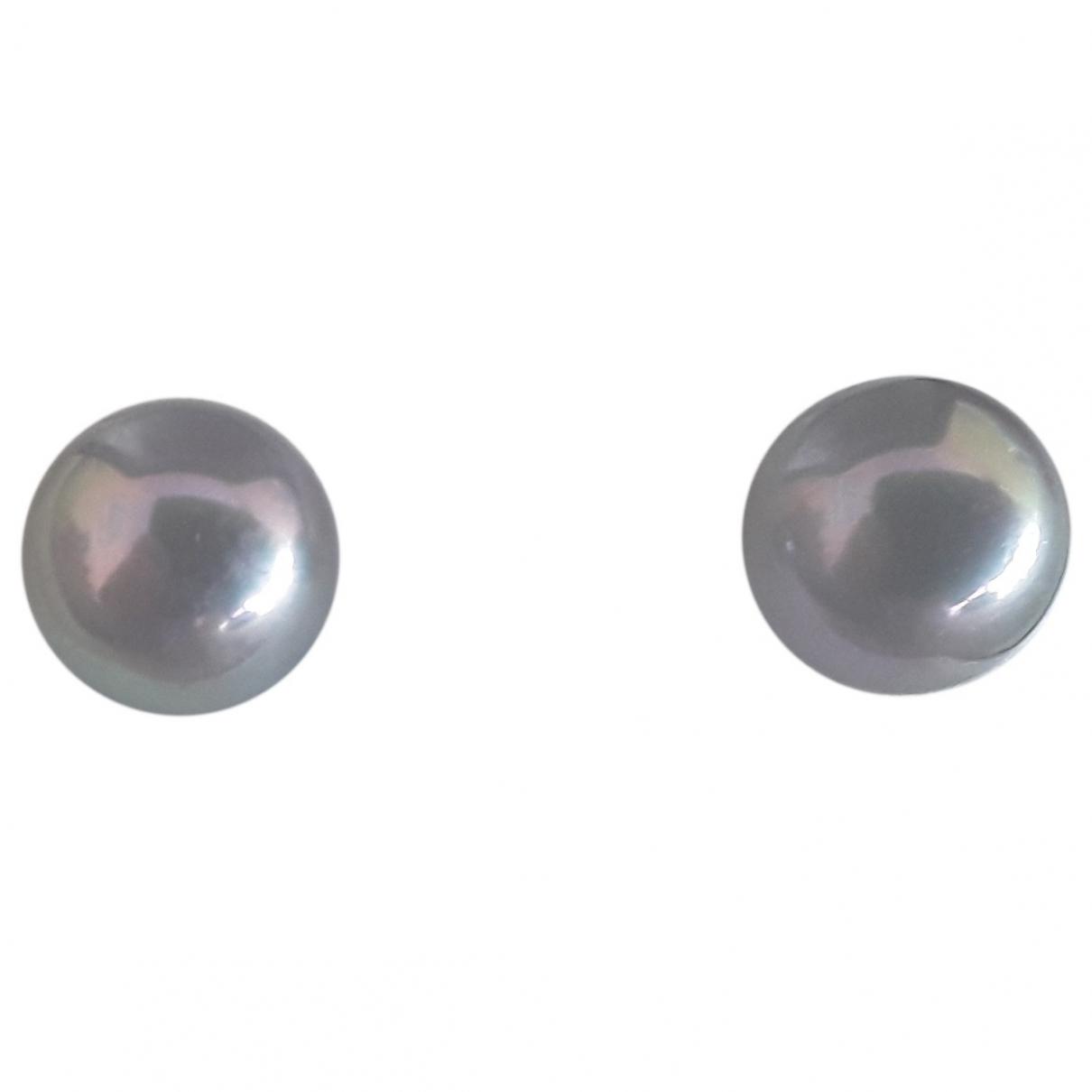 - Boucles doreilles   pour femme en perles - gris