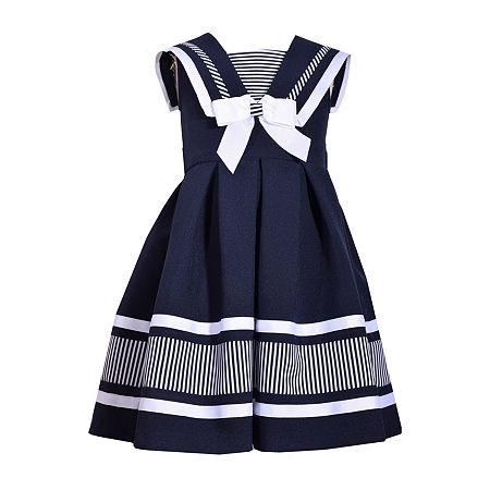 Bonnie Jean Little & Big Girls Sleeveless A-Line Dress, 16 , Blue