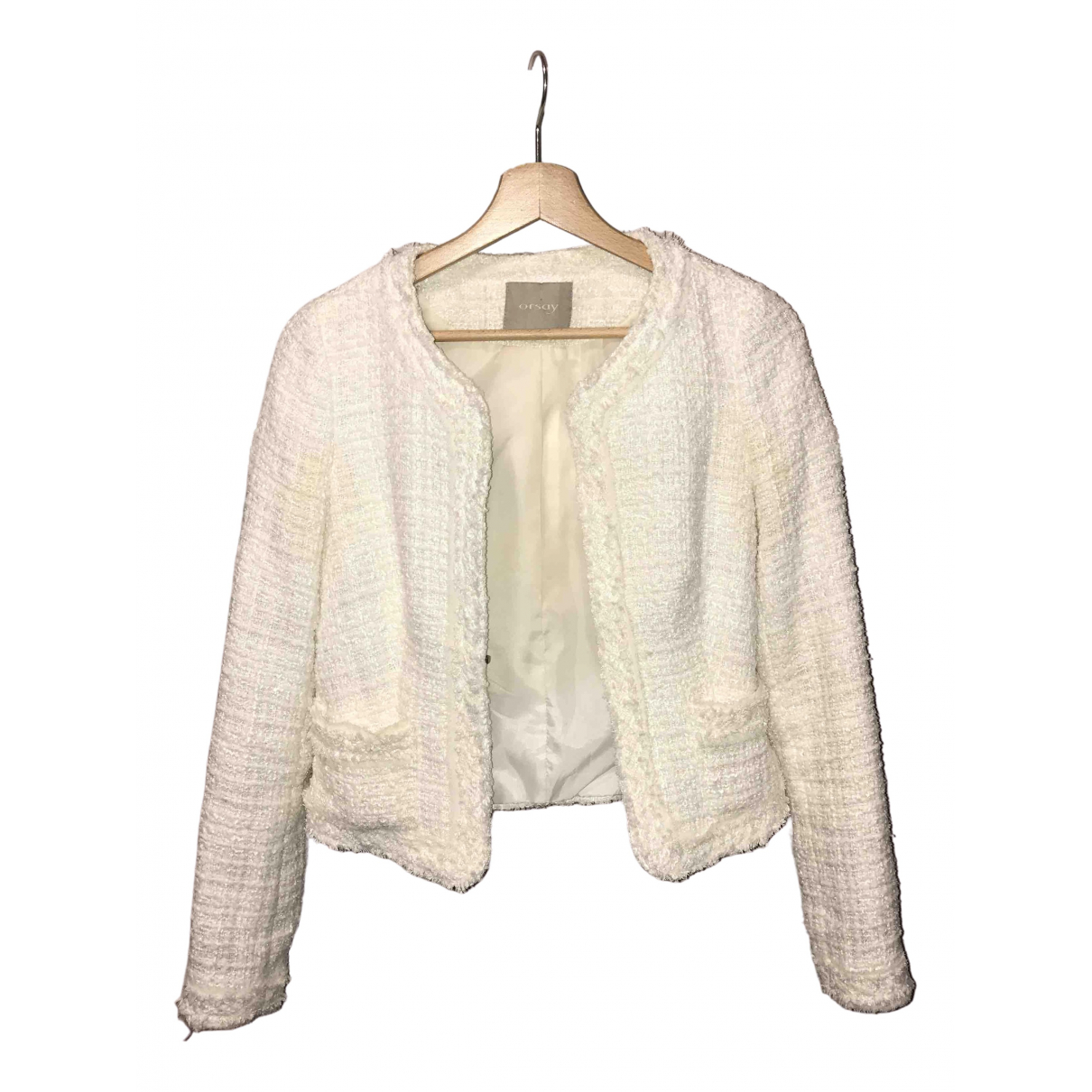 Non Signé / Unsigned \N White jacket for Women S International