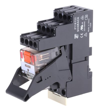 TE Connectivity , 24V ac Coil Non-Latching Relay DPDT, 12A Switching Current DIN Rail, 2 Pole