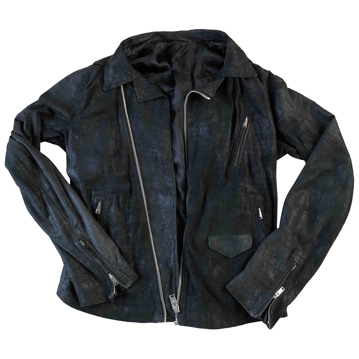 Rick Owens - Vestes.Blousons   pour homme en cuir - noir