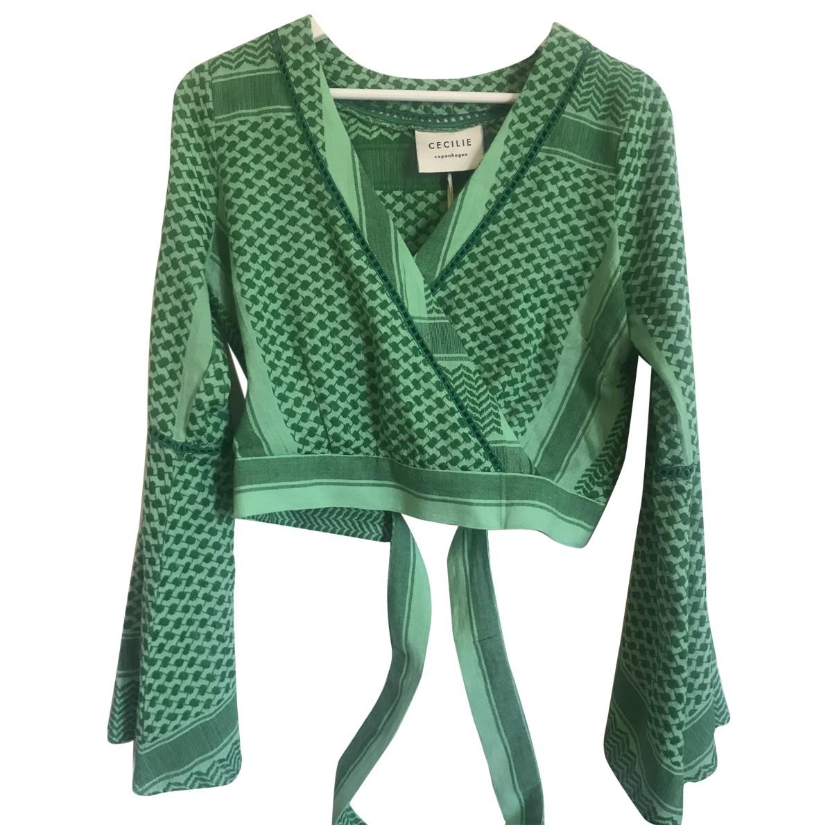Cecilie Copenhagen - Top   pour femme en coton - vert