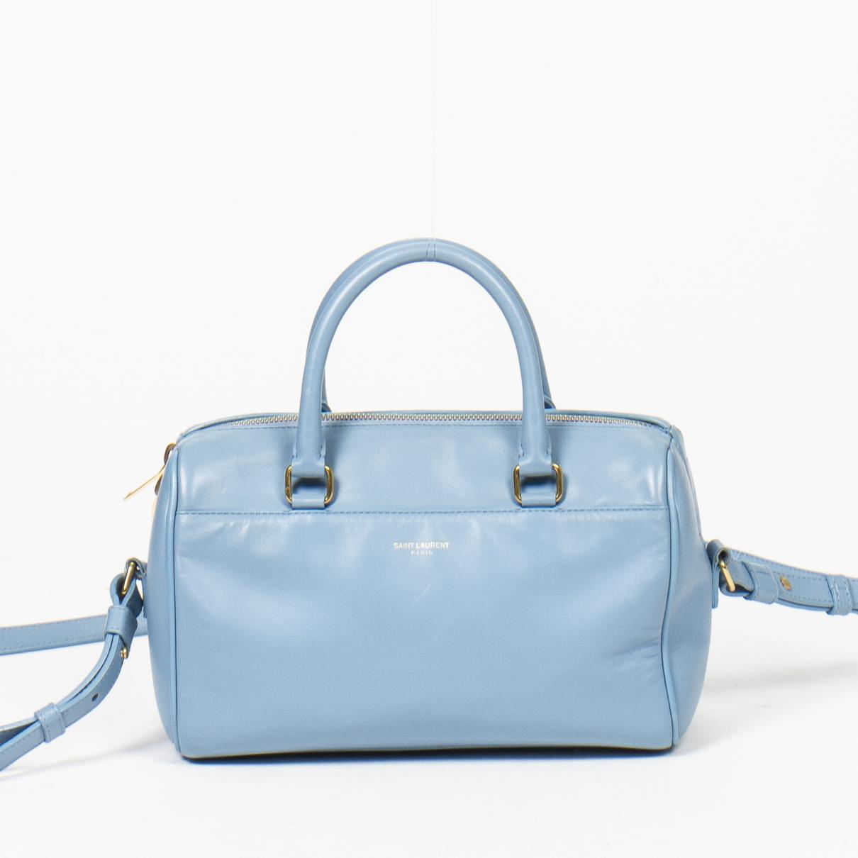 Yves Saint Laurent - Sac a main   pour femme en cuir - bleu