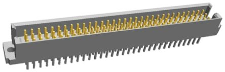 TE Connectivity , Eurocard 96 Way 2.54mm Pitch, Type R Class C2, 3 Row, Straight DIN 41612 Connector, Plug