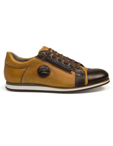Mens Brown Lace Up Calf ~ Leather Shoe