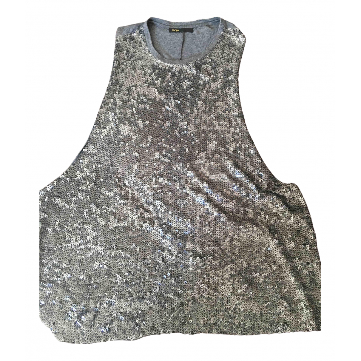 Maje \N Grey Cotton Knitwear for Women 38 FR