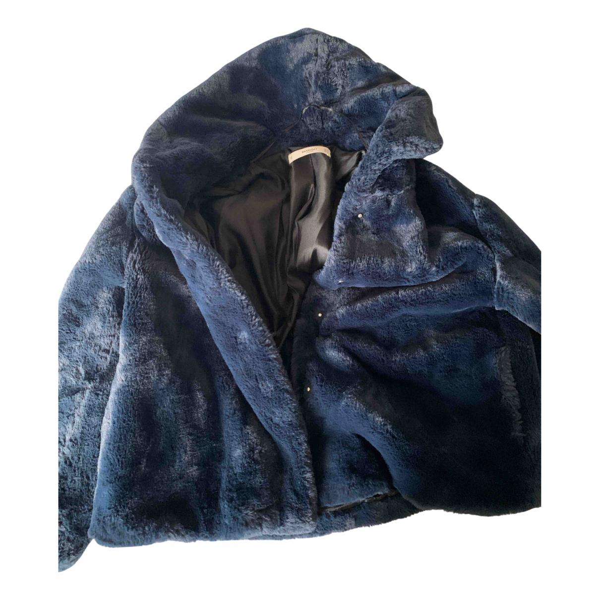 Mango N Blue Faux fur jacket for Women M International