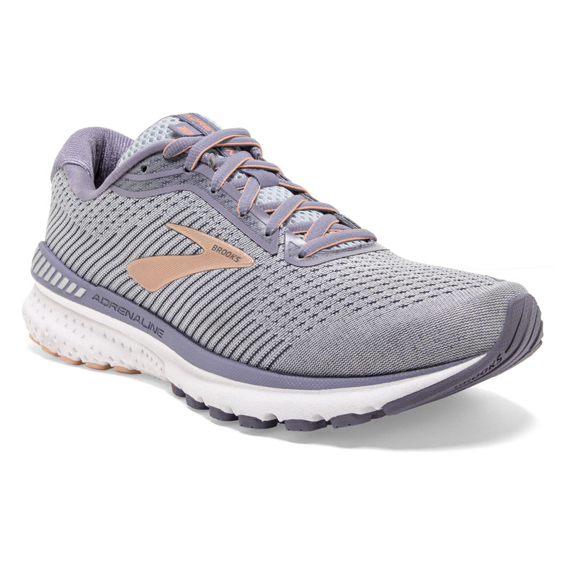 Brooks Adrenaline Gts 20 (Womens) Grey/Peach Synthetic 11 D