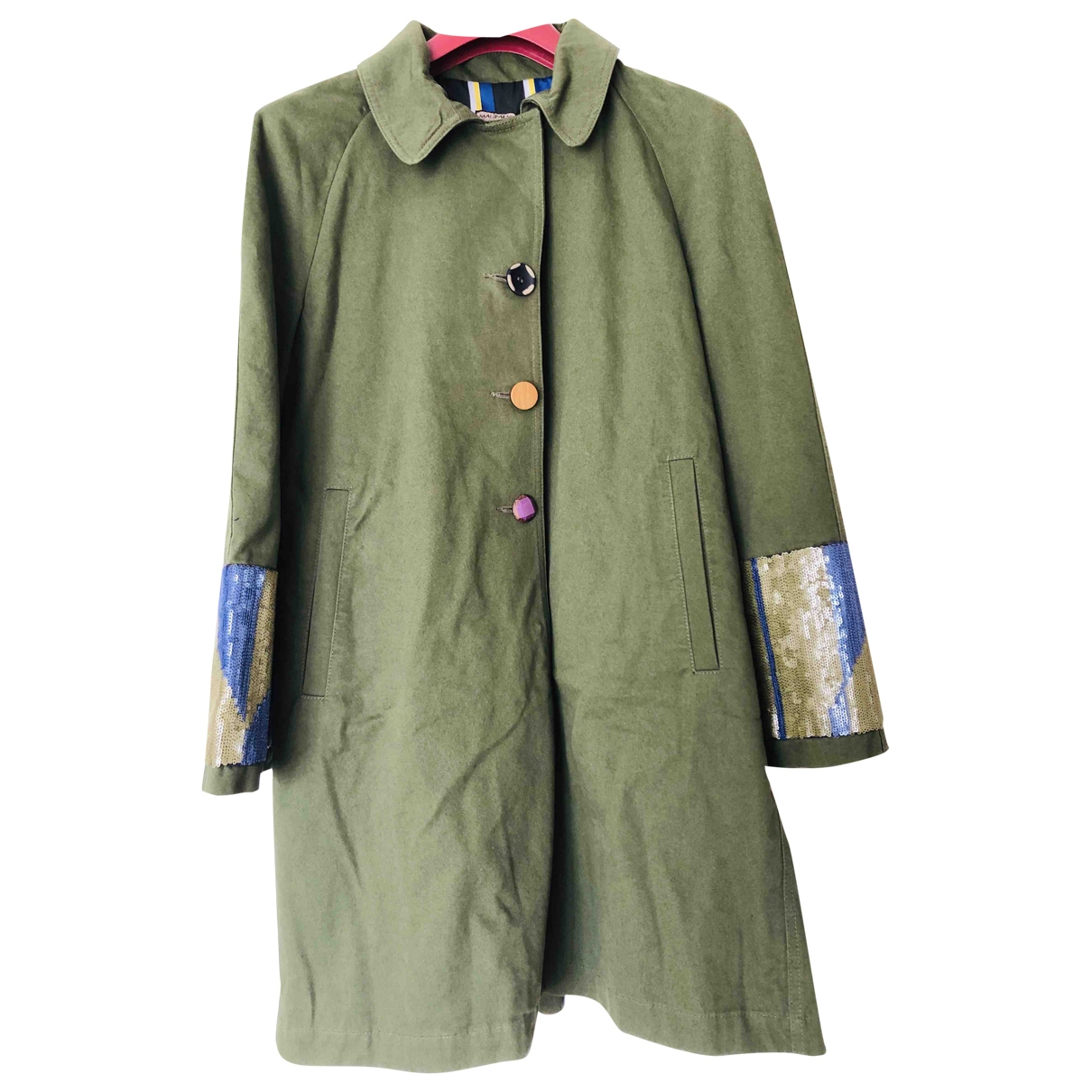 Maliparmi \N Green Cotton coat for Women 40 IT