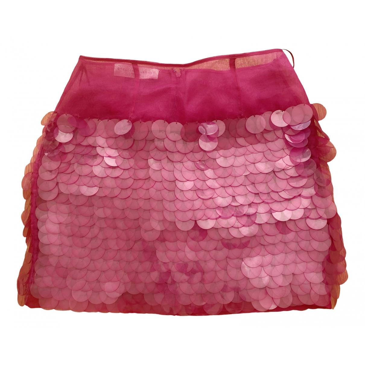 Stella Mccartney - Jupe   pour femme en a paillettes - rose