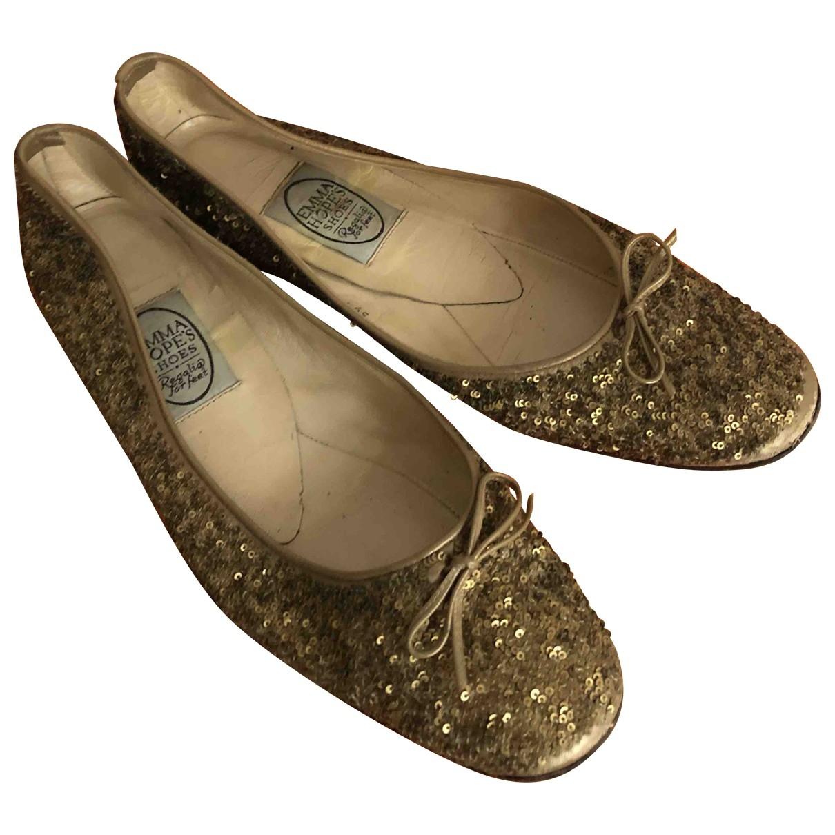 Emma Hope \N Gold Glitter Ballet flats for Women 39.5 EU