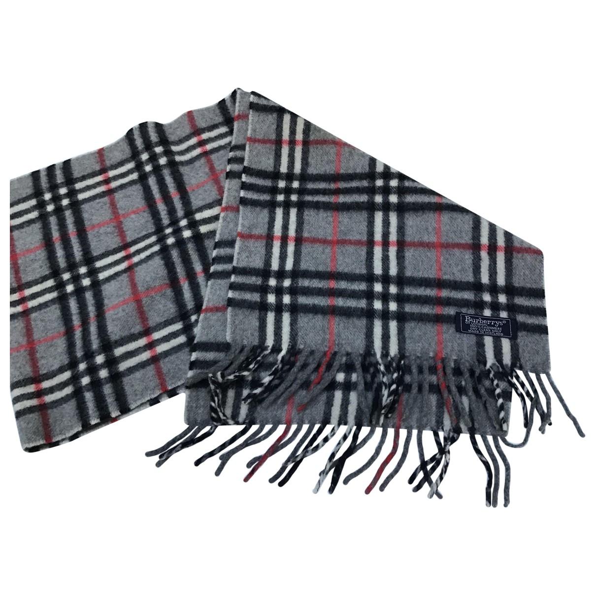 Burberry \N Grey Cashmere scarf & pocket squares for Men \N