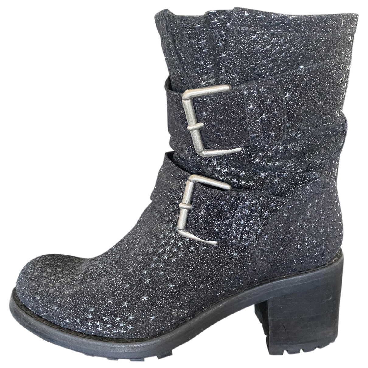 Free Lance \N Black Leather Ankle boots for Women 36.5 EU