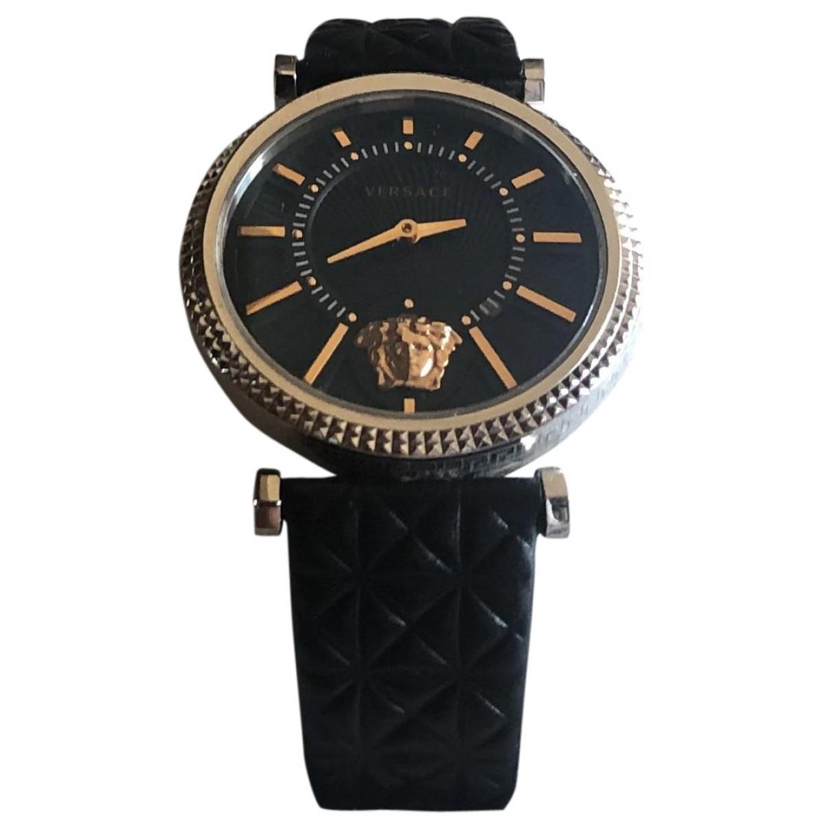 Versace \N Uhr in  Metallic Stahl