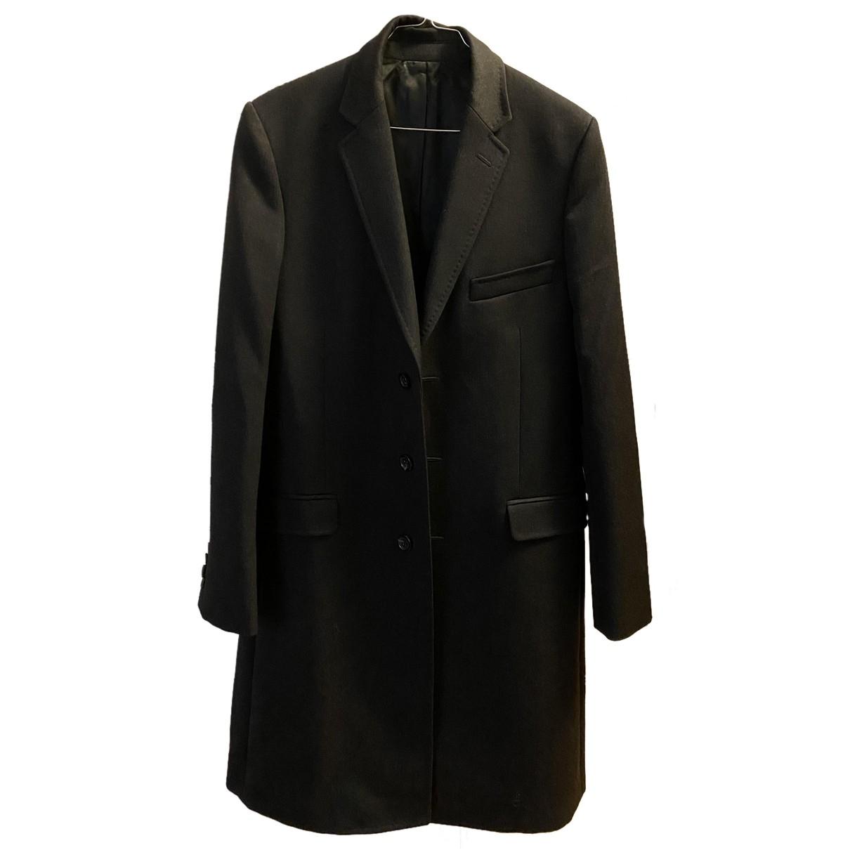 Dolce & Gabbana - Manteau   pour homme en laine - anthracite