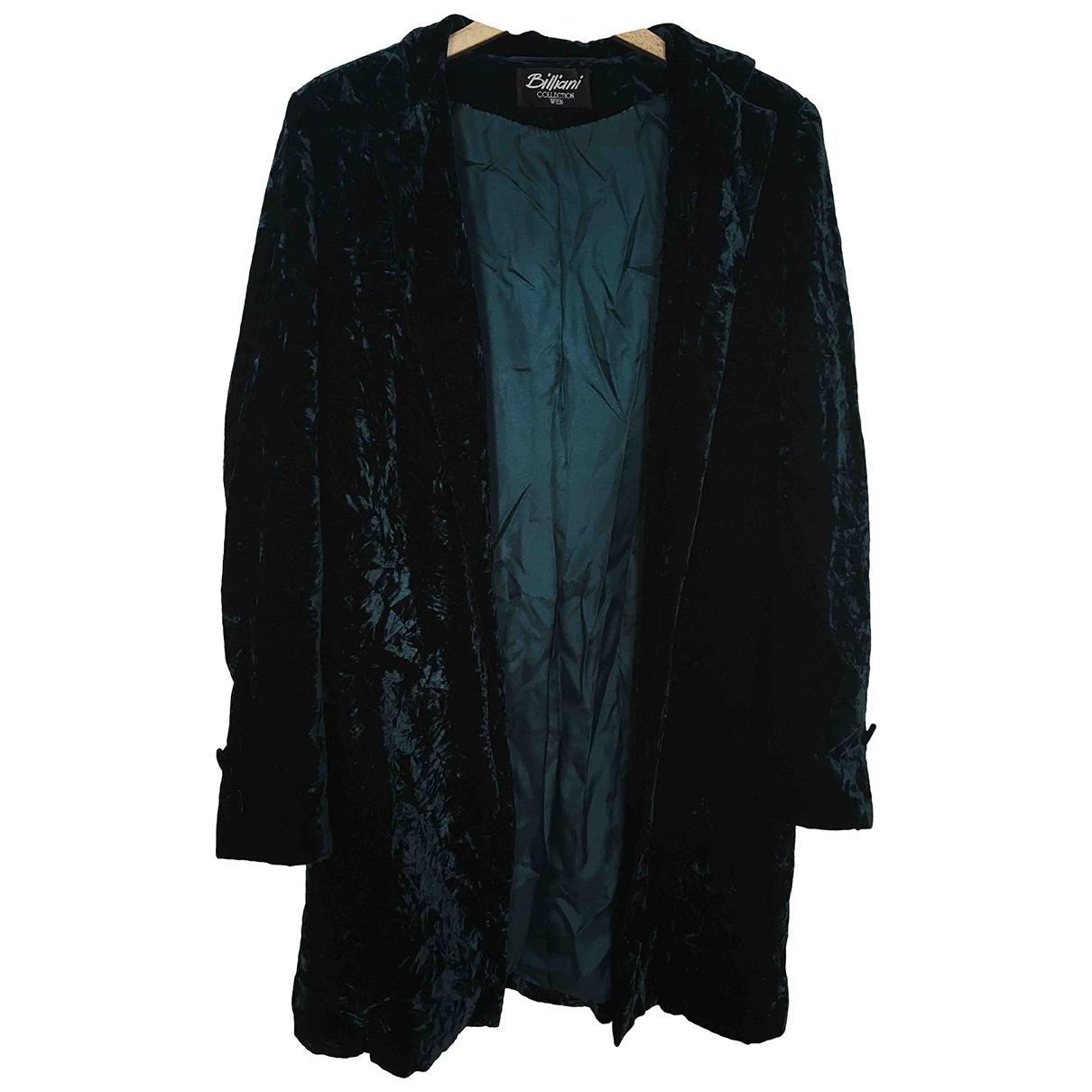 Non Signé / Unsigned \N Green Velvet coat for Women 38 FR