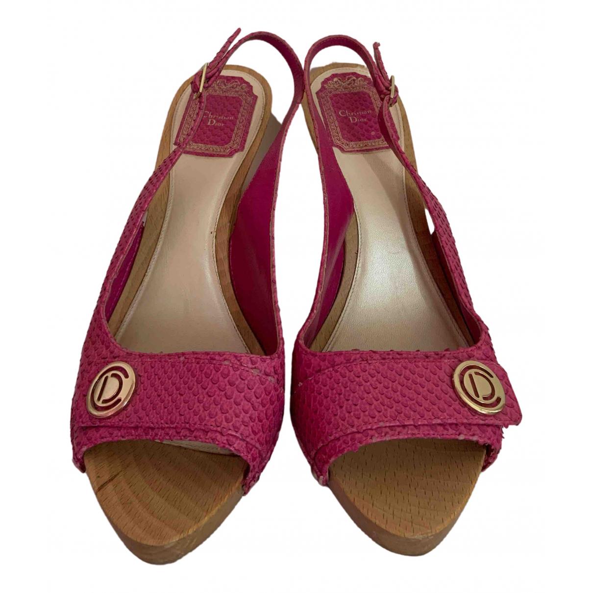 Dior \N Sandalen in  Rosa Wasserschlangen